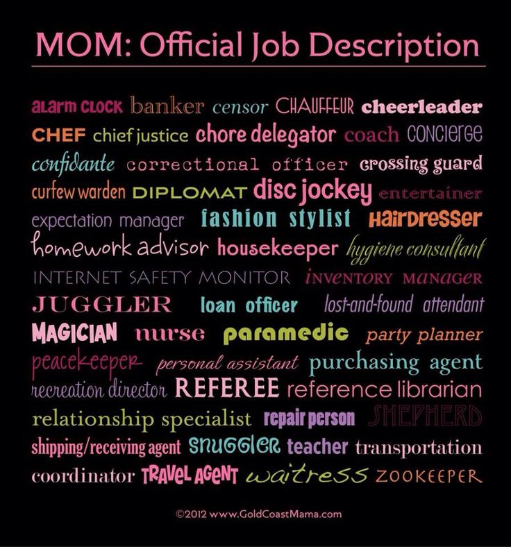 Mom description quotes quotesgram for Stay at home craft jobs