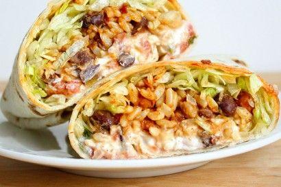 Spicy Bean & Rice Burritos