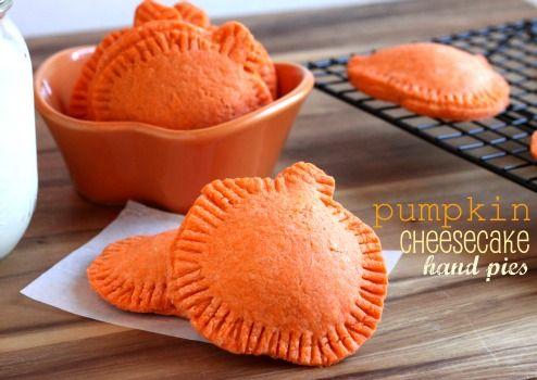 pumpkin cheesecake hand pies from @createdbydiane. Use almond flour crust.