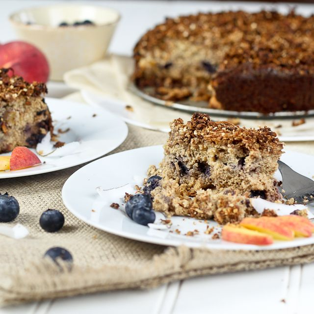 Peaches and Blueberry Coffee Cake | Recipe