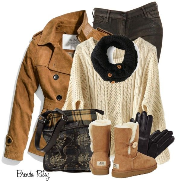 """Coach Suede Trench"" by brendariley-1 on Polyvore"