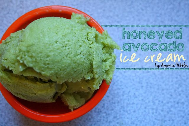 Honeyed Avocado Ice Cream by Anyonita Nibbles. This ice cream has no ...