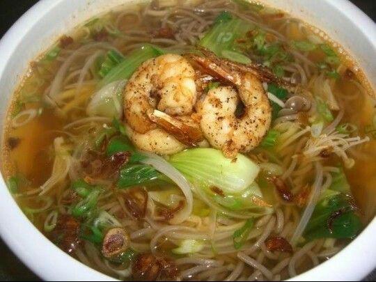 Garlic Shrimp Soba Noodle | Hashigo Korean Kitchen Costa Mesa | Pinte ...
