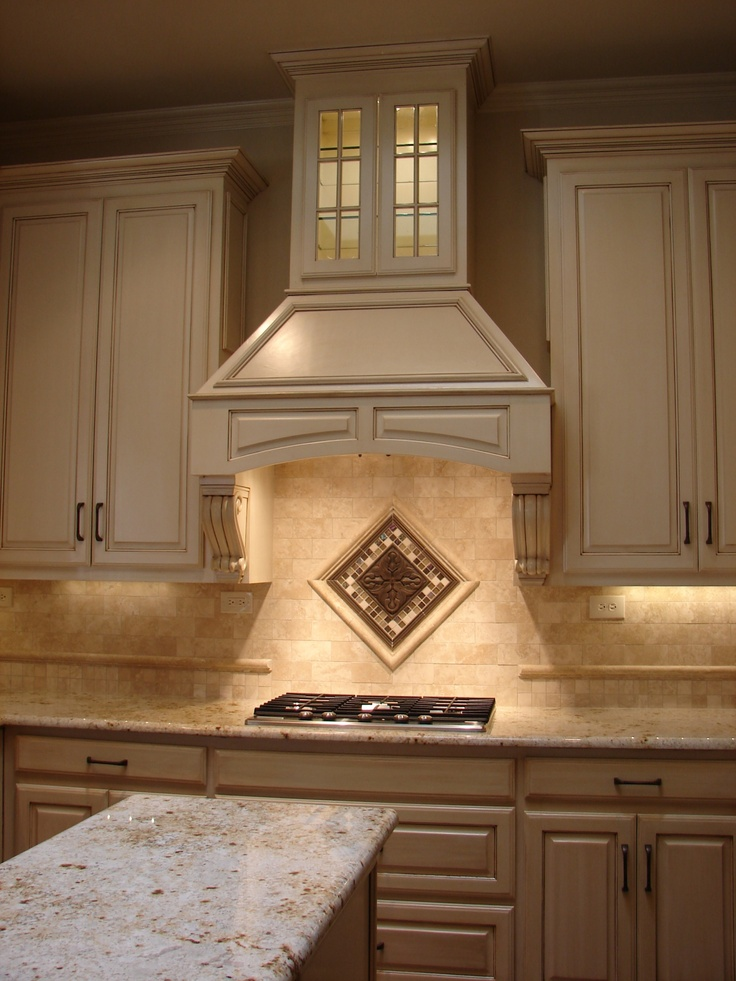 Stove Top Hoods ~ Vent hood range top awesome tile pinterest