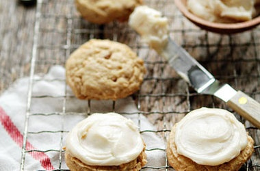 Cashew Cookies with Brown Butter Frosting
