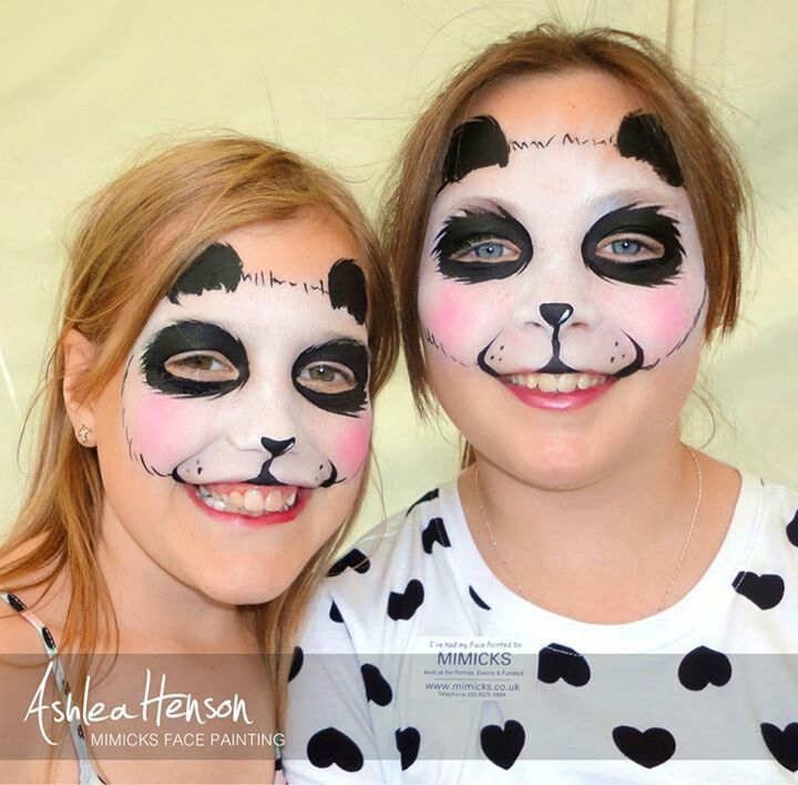 Gallery For gt Simple Panda Face Paint