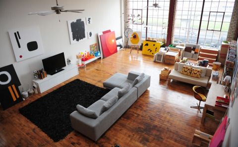Interiors consultant Dee Adams's airy loft in Oakland California.