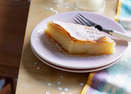 Galaktoboureko - a semolina thickened custard and phyllo pastry