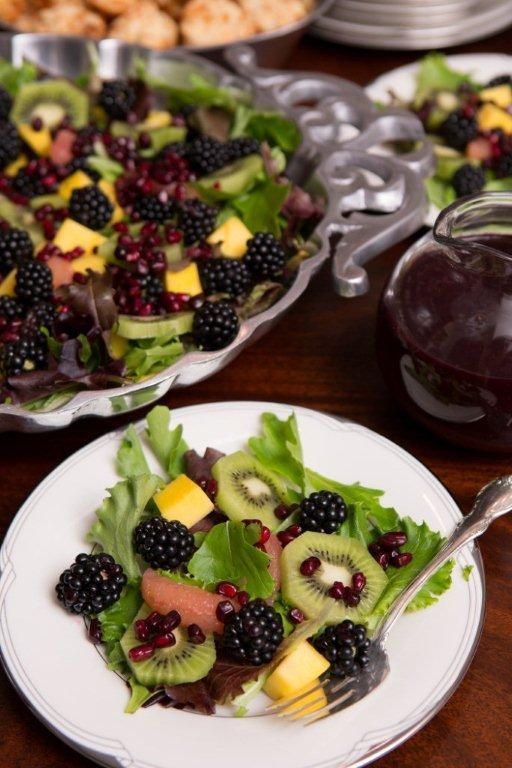 Fruity Blackberry Salad with Blackberry-Basil Vinaigrette You can use ...