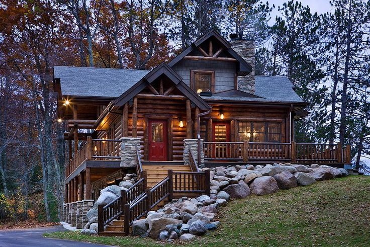beautiful log home dream home pinterest. Black Bedroom Furniture Sets. Home Design Ideas
