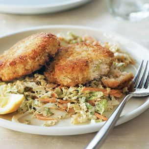 Dungeness Crab Cakes with Cabbage Slaw | Williams-Sonoma | Fish And ...
