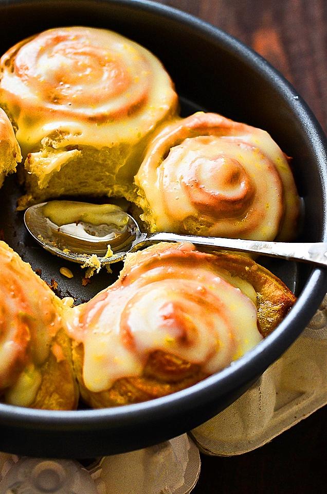 lemon rolls with lemon cream cheese   foodstuffs   Pinterest