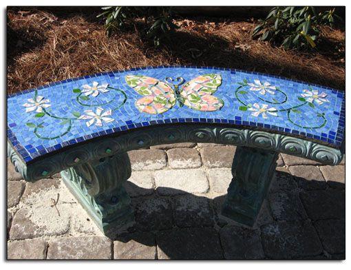 Butterfly Bench Garden Mosaics Pinterest