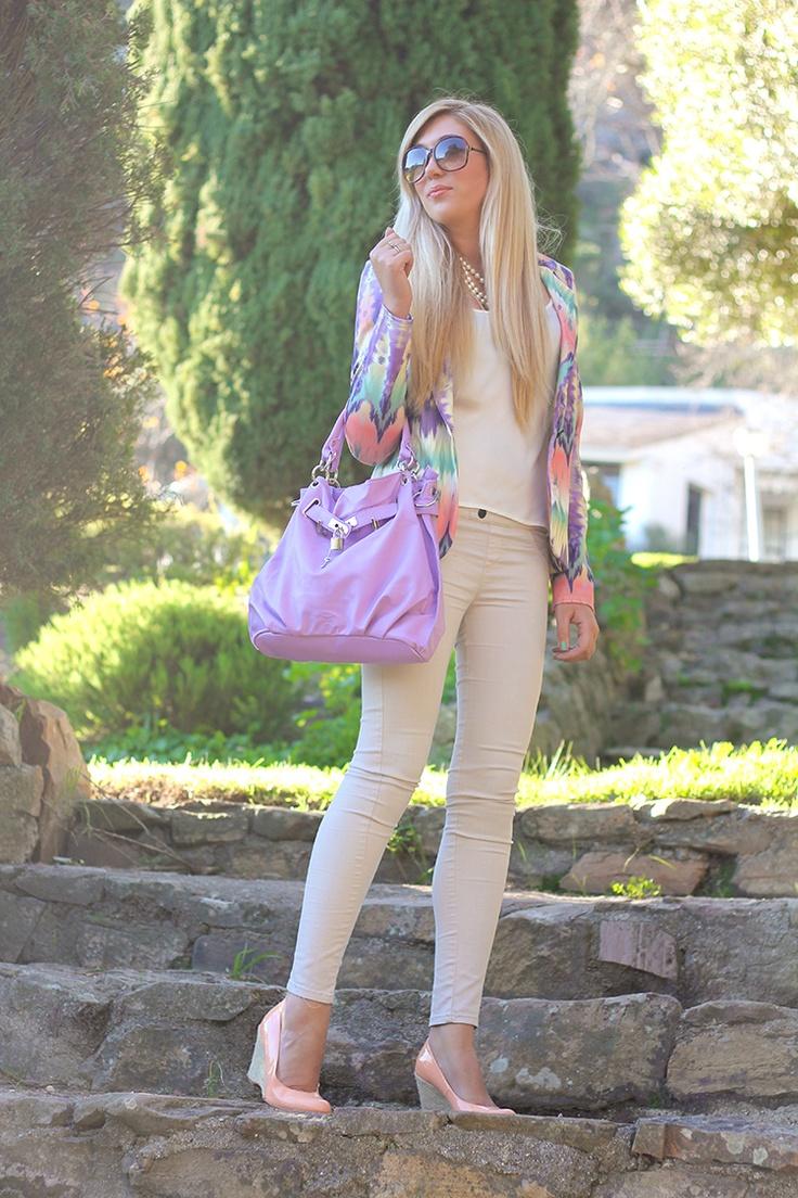 Pastel colorful higher heels