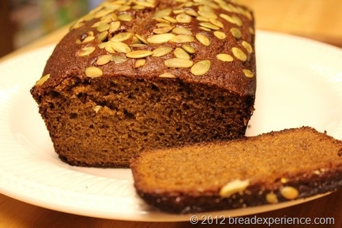 Einkorn and Olive Oil Pumpkin Bread | Breads of 2012 | Pinterest