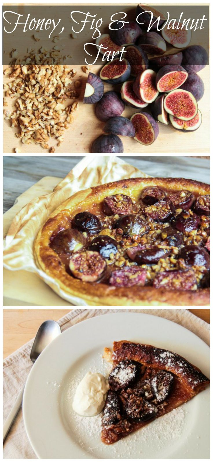 Honey, FIg & Walnut Tart | Food - Pies & Tarts | Pinterest