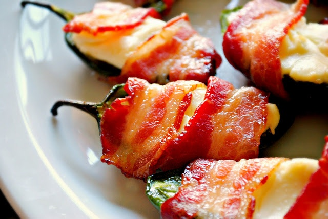 Bacon Wrapped Jalapenos - I think I would mix the cream cheese with ...