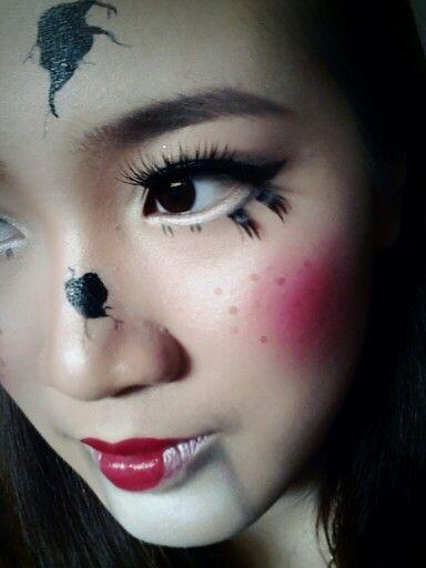 Halloween cracked doll makeup : Holidays : Pinterest