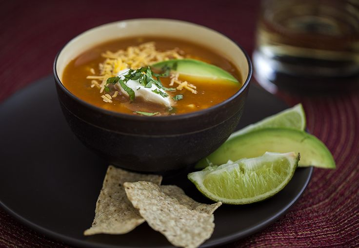 Vegetarian Tortilla Soup | *Blogger Soup Recipes* | Pinterest