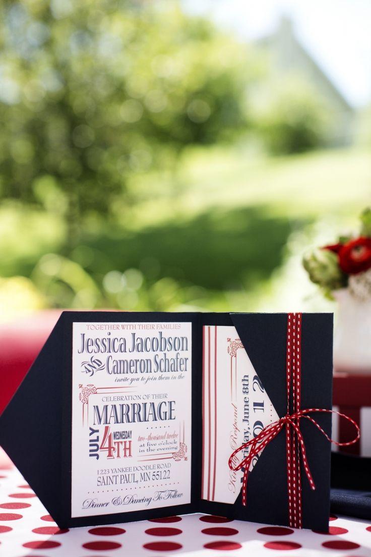 invitations fourth of july wedding inspiration shoot photo by photogen inc - Patriotic Wedding Invitations