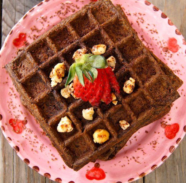 Chocolate-Banana Hazelnut Waffles | Food-Breakfast | Pinterest