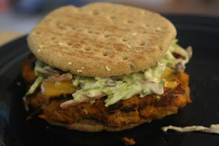 Buffalo turkey burgers with blue cheese coleslaw | Recipes And Food ...
