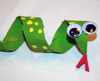 Slithering snake #craft just in time for spring