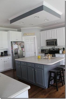 kitchen gray walls white cabinets Kitchen