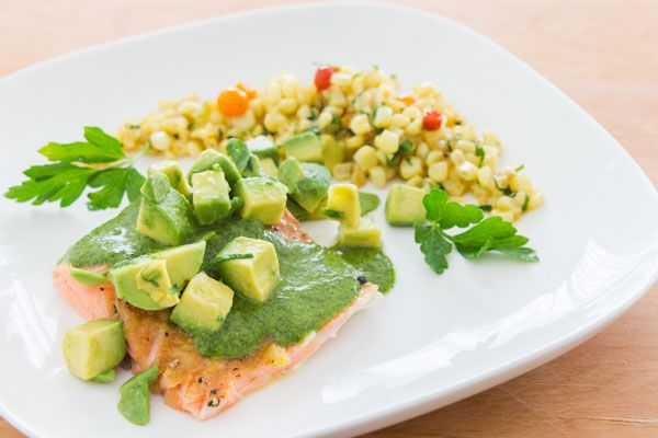 Poached Salmon with Salsa Verde. Finally a salmon recipe that isn't ...