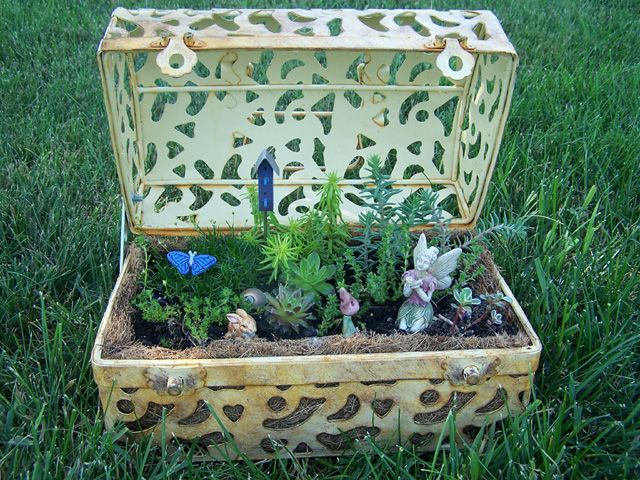 lots of container fairy gardens gardening ideas pinterest. Black Bedroom Furniture Sets. Home Design Ideas