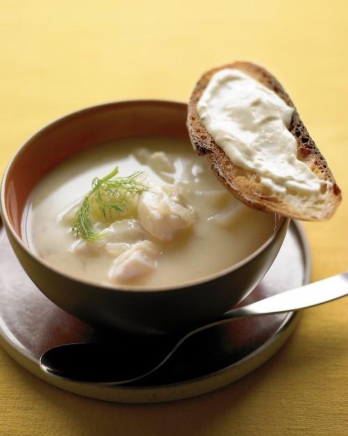 Fish Soup with Lemon Aioli - Martha Stewart Recipes