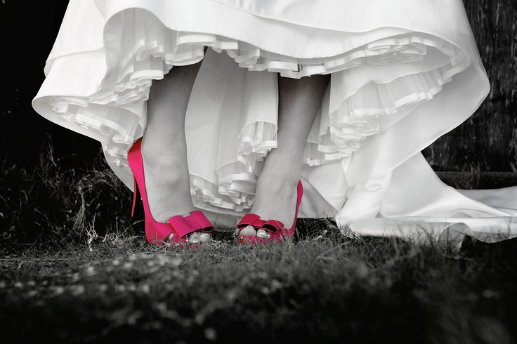 pink wedding shoes #pinkedbrides Get P.I.N.K.E.D! for cancer prevention