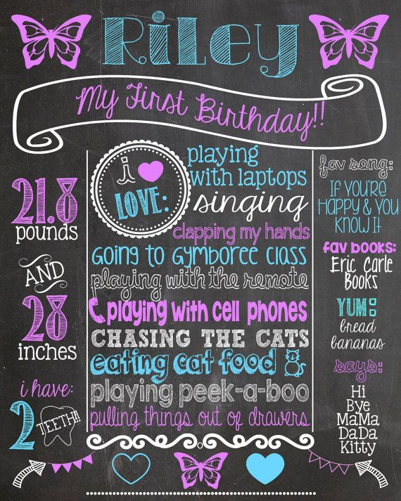 Cute poster board ideas for birthdays