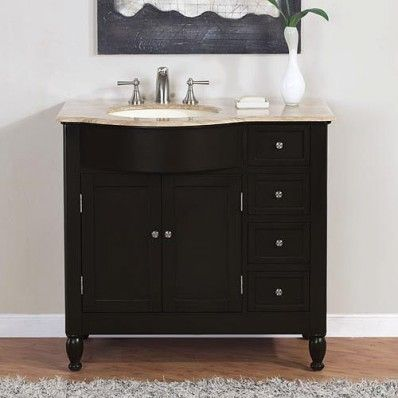 Left Side Sink Vanity : Silk Road Left Side Sink Bathroom Vanity Accessories for the home ...