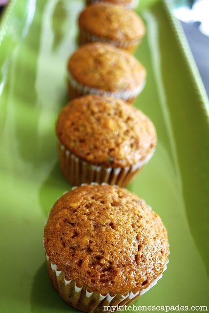 Banana Zucchini Muffins: super good! Used 2/3 c wheat flour, 2/3 cup ...