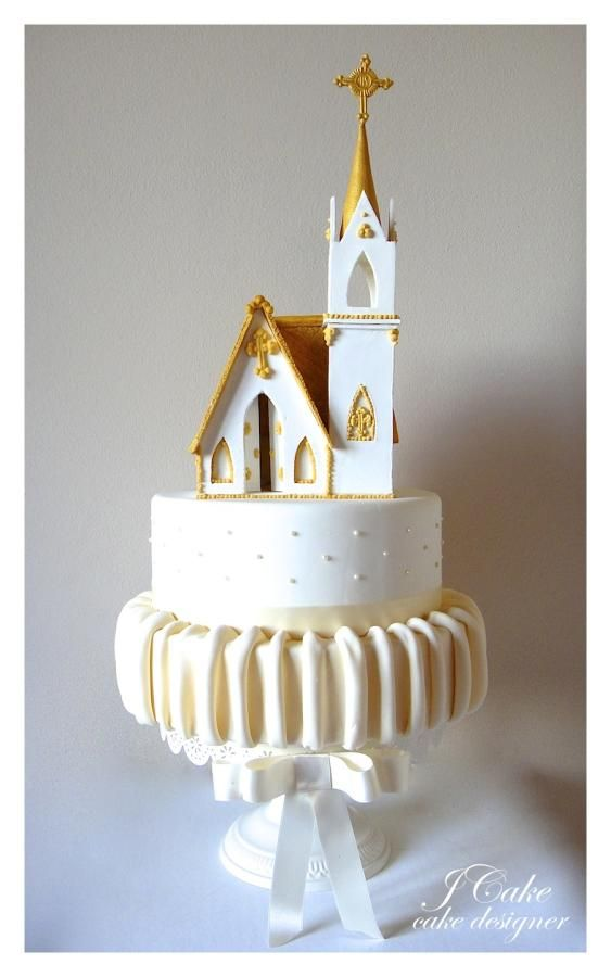 the church Cake Decorating Pinterest