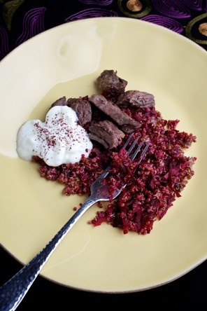 Cumin-Scented Quinoa with Beef and Beets - This was in the Washington ...