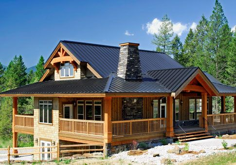 Cedar timber stone home joy studio design gallery best for Small post and beam home designs
