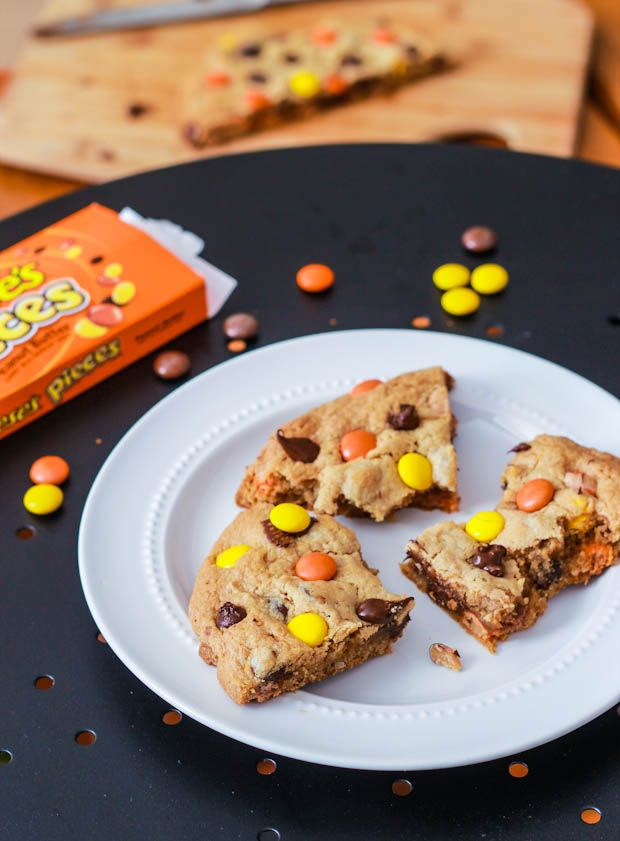 Peanut Butter Cookies ..... Giant Reeses Pieces Cookie for 1