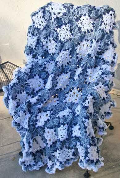 Free Crochet Pattern Snowflake Afghan : Pin by Joy Ryan on mycrochet snowflake grannies&afghans ...