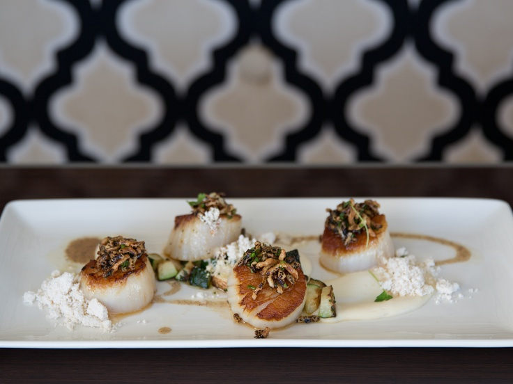 ... Scallops, Celeryroot Purée, Winter Squash, and Brown Butter Powder