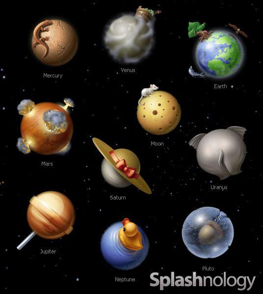 Amazing Solar System Icons | Science | Pinterest