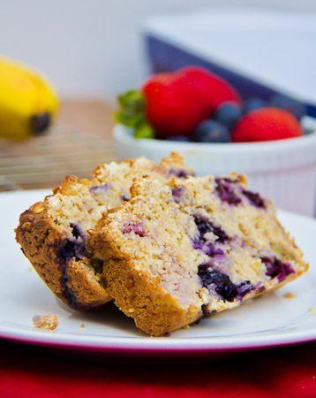 Banana Berry Nut Oatmeal Breakfast Bread | Food: Breakfast | Pinterest
