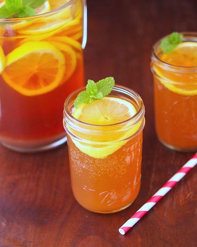 ... healthy living blog with tasty recipes: Lemon Mint Sparkling Iced Tea