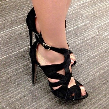 Zara black suede sandals