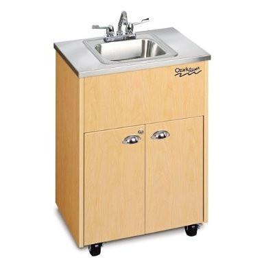 Portable Stainless Steel Sink : Ozark River Portable Sink Stainless Steel Roll Caster Outdoor Indoor ...