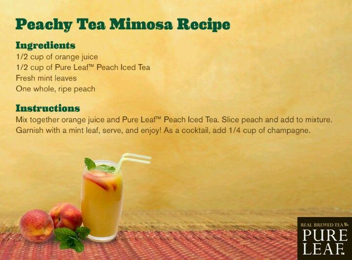 Peachy tea mimosa recipe | cool drinks | Pinterest