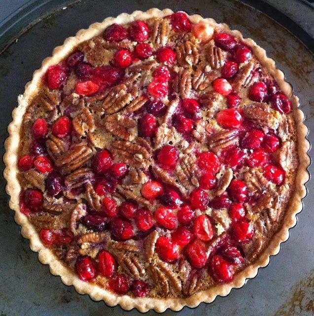 Cranberry Pecan Tart | visions of sugarplums | Pinterest