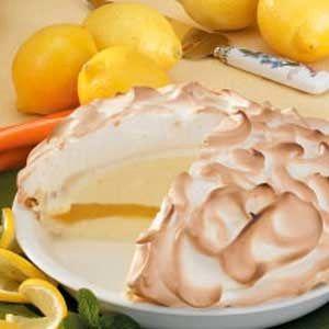 Lemon Baked Alaska Pie! made with vanilla bean ice cream :)