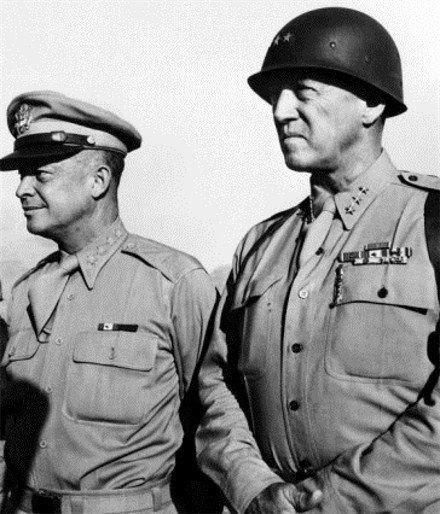 patton and eisenhower